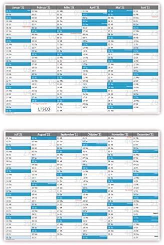 Tafelkalender DIN A5 2021 (25 Stück) Format (148 x 225 mm) 300g BD Papier, sehr gut beschreibbar + Ferientermine aller Bundesländer