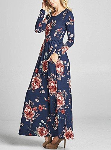 Kleid festlich blau lang