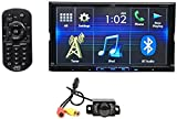 Package: JVC KW-V420BT 7'' Double-Din DVD Receiver with Built-In Bluetooth, USB, and iPhone/Android Controls + Rockville RBC1 Rear View Backup Car Camera
