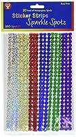 Sticker Strip Spots 960/Pkg-Sparkle (Holographic)