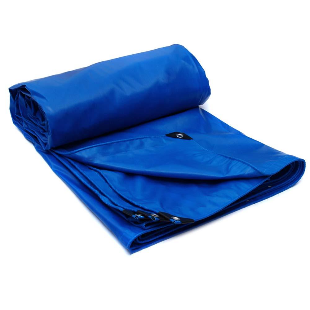 厚い青色のPVC防水シート、0.5 mm屋外凍結防止断熱防水シート、520 g/平方メートル、トラック雨の日よけ防水シート、両面防水 B07QMBYCFT  8*6m 8*6m