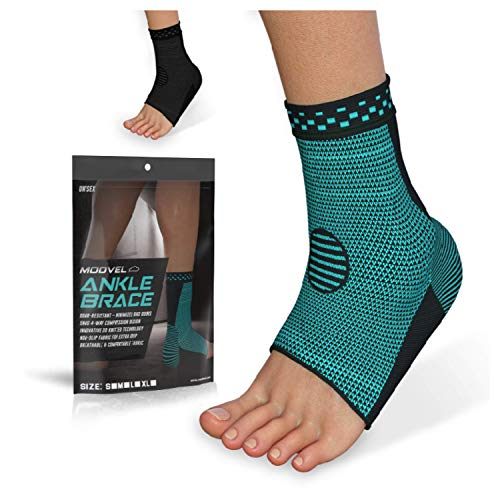 Modvel 2 Pack Ankle Brace Compression Sleeve   Injury Recovery, Joint Pain and More   Achilles Tendon Support, Plantar…