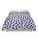 Society6 Indigo Spots Dots Minimal Modern Abstract Painting Boho Dorm College Decor Monochromatic Nautical Duvet Covers King: 104'' x 88''