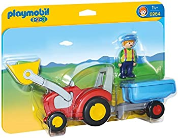 Playmobil 6964 1.2.3 Tractor with Trailer Toy