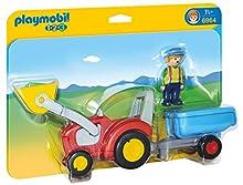Playmobil 1.2.3 Tractor con Remolque 6964