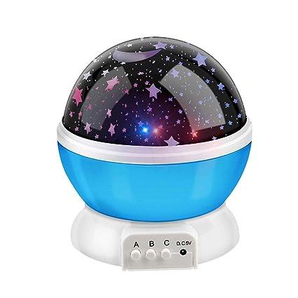 Mstar Romántica Rotación De Estrellas Luna Cielo Proyector ...