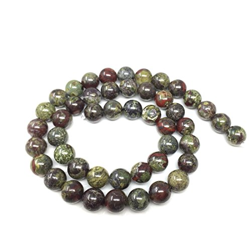 Top Quality Natural Dragon Blood Jasper Gemstone 10mm Round Loose Gems Stone Beads 15 Inch for Jewelry Craft Making GF30-10