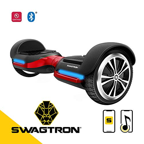 Swagtron T580 App-Enabled Bluetooth Hoverboard w/Speaker Smart Self-Balancing Wheel - Available on iPhone & Android