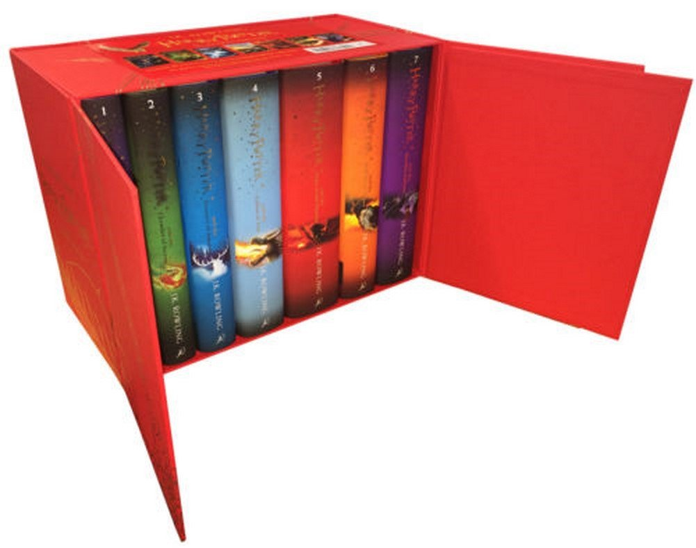 Harry Potter Complete Collection 7 Books Set Collection J.K.Rowling Hardback Red by Unbranded (Image #1)