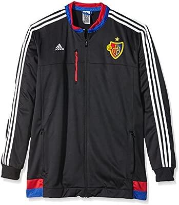 adidas Chaqueta de chándal Hombre FC Basel Anthem, Black/White ...