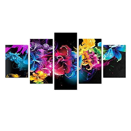 SuperDecor 5d Diamond Painting Kits Full Drill Diamond Embroidery DIY by Number Kits for Adults and Kids, Multicolor Flowers