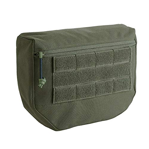 KRYDEX Tactical Dump Drop Pouch with Hook and Loop for JPC CPC AVS Vest Utility Tool Bag Airsoft Paintball (Upgrade Pouch -RG)