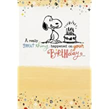 Amazon sunrise greetings snoopy great thing happened sunrise greetings peanuts birthday card m4hsunfo