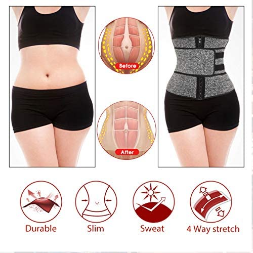 DIIIBARLORY SweatFIT Adjustable Waist Slimming Trimmer - Original Neoprene Sweat Waist Trainer Corset Trimmer Belt for Women Weight Loss, Waist Cincher Shaper Slimmer 5