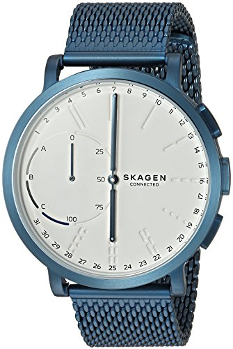 Skagen-Hagen-Connected-Blue-Steel-Mesh-Hybrid-Smartwatch