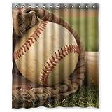 Special Custom Vintage Baseball Mildrew Resistant Shower Curtain 60' x 72' - Bathroom Decor(Fabric)