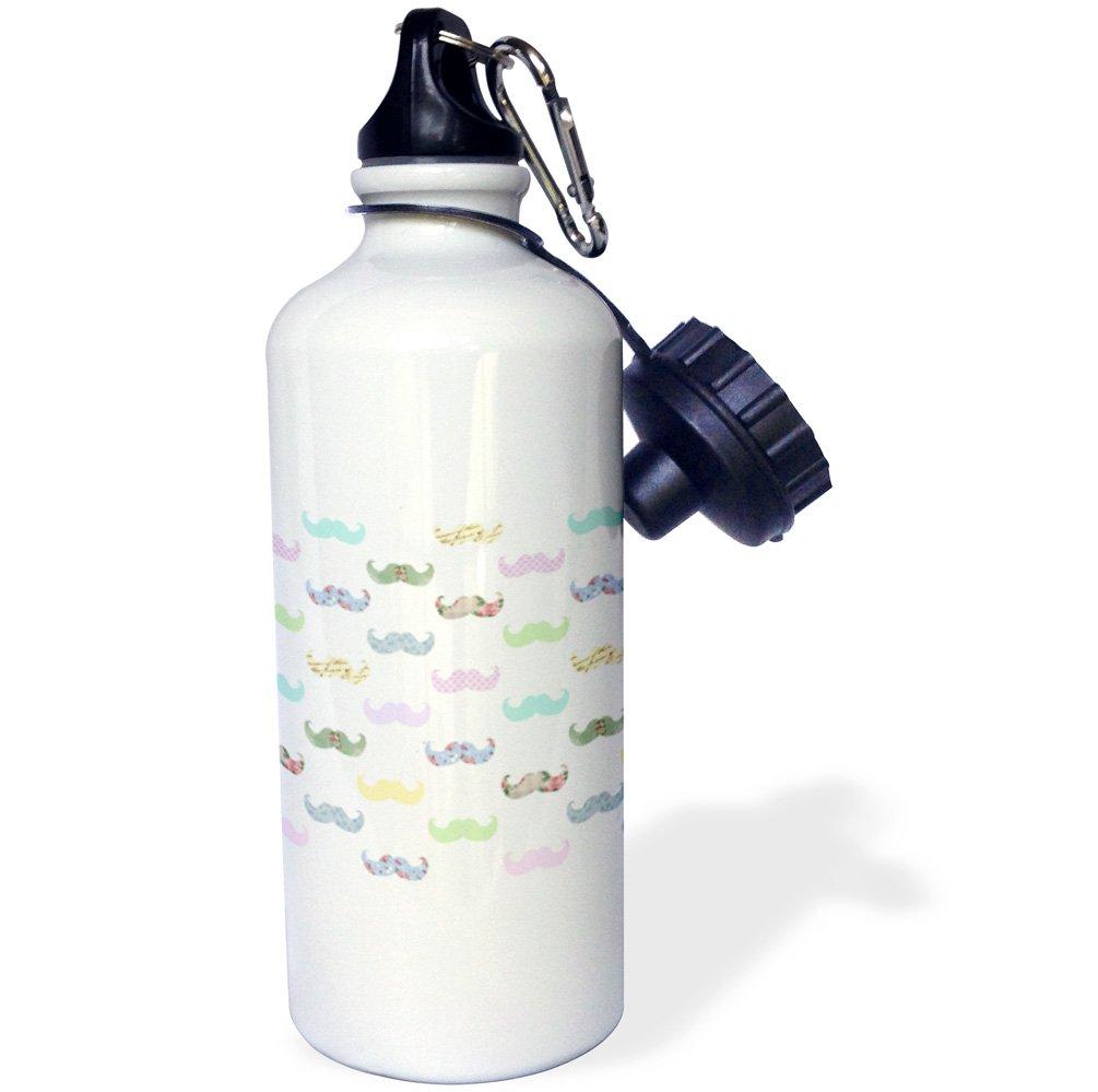 3dRose WB 112888 _ 1 Rosa sintética sintética sintética Glitter-Photo de Glittery Texture-Girly Trendy-Glamorous Brillante Bling Efecto Deportes Botella de Agua, 21 oz, Blanco 1e297f