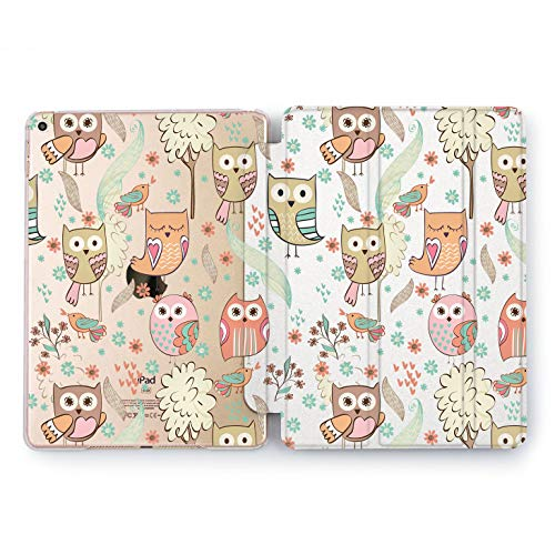 Wonder Wild Cute Owl Apple New iPad Case 9.7 inch Mini 1 2 3 4 Air 2 10.5 12.9 2018 2017 Cover Skin Texture Stand Print Birds Nature Watercolor Kawaii -
