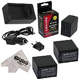 3 Opteka NP-FV100 4500mAh Ultra High Capacity Li-ion Battery Packs 4500mAh Each, 13500mAh in Total + Rapid AC/DC Battery Charger For the Sony CX110, CX130, CX150, CX160, CX170, CX190, CX200, CX210, CX220, CX230, CX250, CX260, CX260V, CX280, CX290, CX300, CX320, CX330, CX350, CX350V, CX360, CX370, CX370V, CX380, CX390, CX400, CX410, CX430, CX430V, CX510, CX550, CX550V, CX560, CX560V, CX580, CX580V, CX700, CX700V, CX730, CX740, CX760, CX760V, CX900 Video Camera Camcorder includes 47stphoto