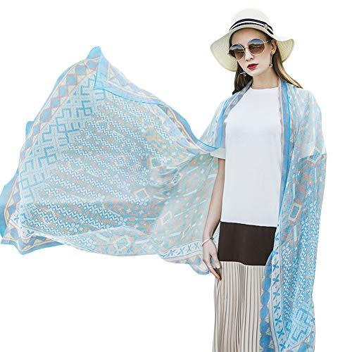 Silk Scarf Shawl New (DANA XU Pure Silk Large Size Pashmina Shawls and Wraps Scarfs for Women (Blue20))