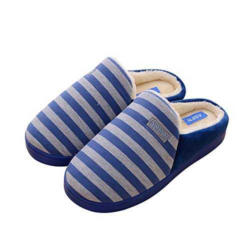 Cozy Blue Slippers Cool Opatina Cotton Warm Opatina Stripe Cool Soft YBxUxqz