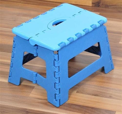 Taburete Escalera Plegable – Taburete escalón plegable plástico 35 x 22 x 27 cm turquesa: Amazon.es: Bricolaje y herramientas