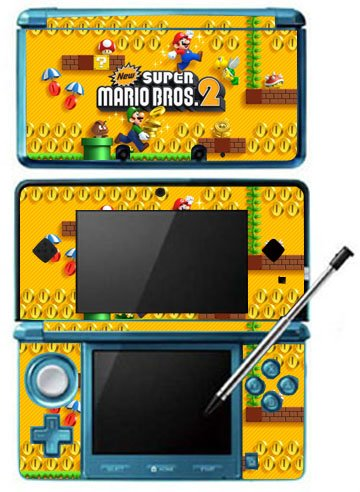 New Super Mario Bros 2 Game Skin for Nintendo 3DS Console