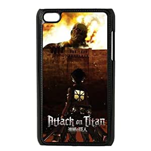 Attack On Titan Fire iPod Touch 4 Case Black Protect your phone BVS_622268