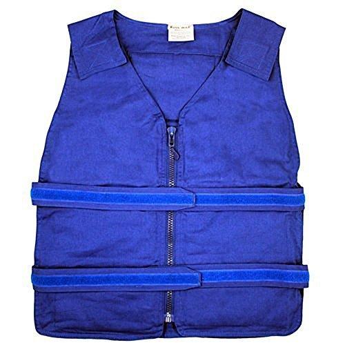 Vest Kool (Lightweight Kool Max?Zipper Front Vest (S/M, Blue) by Polar Products)