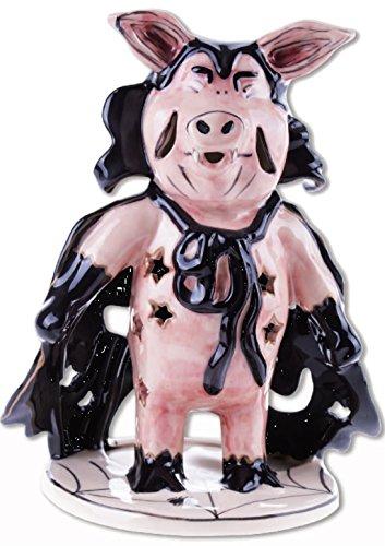 Blue Sky Clayworks Halloween Dracula Pig T-lite Holder 9.5