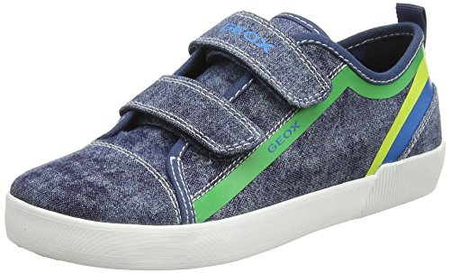 Geox Boys J Kilwi A Low-Top Sneakers, Blue (Blue/Green), 12.5 UK (31 EU) (Best Cookware For Ceramic Hobs)