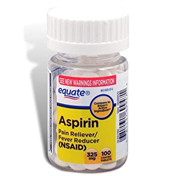 Amazon.com: Equate - Aspirin 325 mg, Original Strength, 100 Coated ...