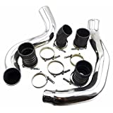 03+ Ford F250 F350 6.0L Turbo Diesel Intercooler Piping w Hose Clamps & Couplers
