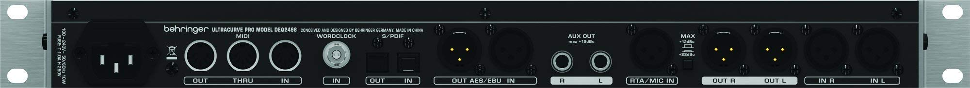 Behringer Ultracurve Pro DEQ2496 Ultra-High Precision 24-Bit/96 kHz Equalizer, Analyzer, Feedback Destroyer and Mastering Processor (Certified Refurbished) by Behringer (Image #3)