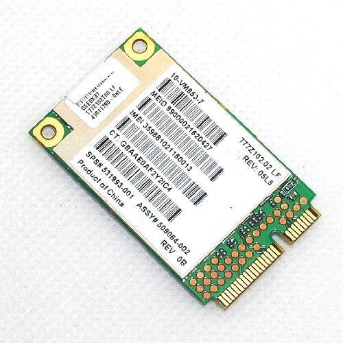 for HP GOBI2000 UN2420 WWAN 3G Wireless Card HSPA/WCDMA GSM/GPRS GSM/GPRS EDGE 531993-001 by HP