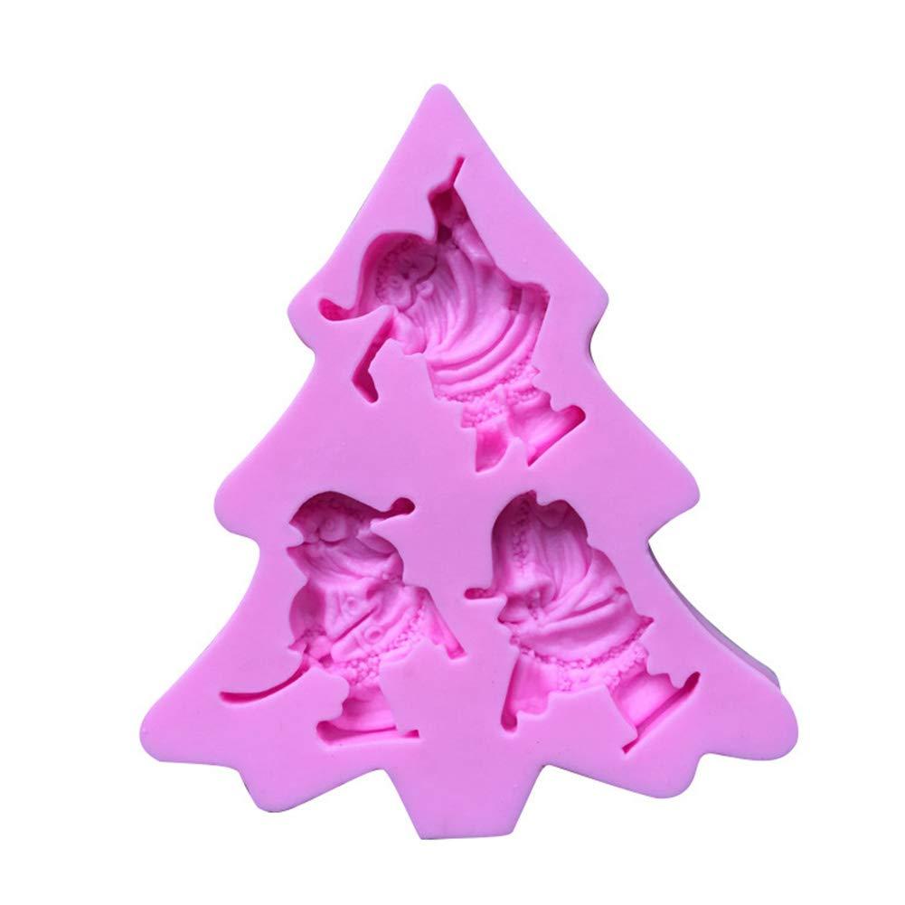 Vi.yo 1 Pcs Cake molde herramienta Silicona Fondant pastel molde de decoraci/ón de torta de las herramientas Forma de Santa claus 10.8 1.2cm 9.5