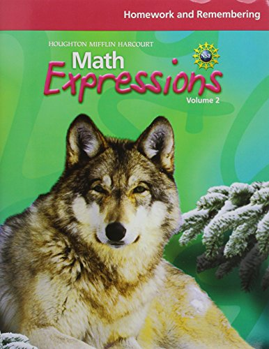 Math Expressions: Homework and Remembering Workbook Volume 2 Grade 6 (6 Grade Math Expressions)