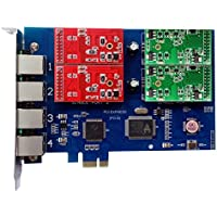 Analog Card with 2 FXO +2 FXS Ports,PCI Express (PCI-E) Connector,For Elastix,Freepbx