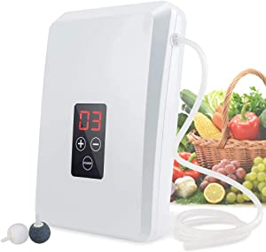 TUANSING Multi-Purpose Ozone Generator Fruit & Vegetable Washer Air Sterilizing Portable Ozone Machine for Kitchen, Bathroom, Room, Office
