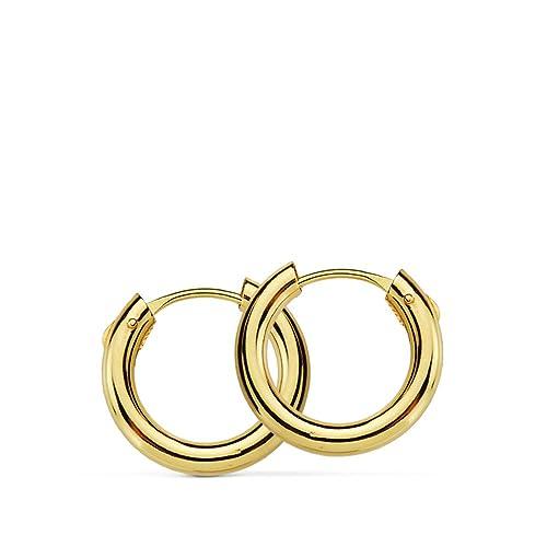 100de1ba2cda Pendientes oro amarillo Muriel 12mm 18 Ktes  Amazon.es  Joyería