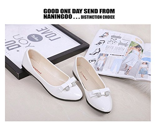Leather Shoes Black Shoes On Flat Ballerina Rhinestones Pumps Dolly Loafers Comfortable Patent Faux Office Slip Women wfRq4HnI
