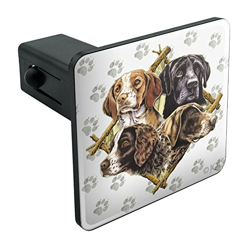 Graphics and More Dog Diamond Hunting Breeds Tow Trailer Hitch Cover Plug Insert 1 1/4 inch (1.25