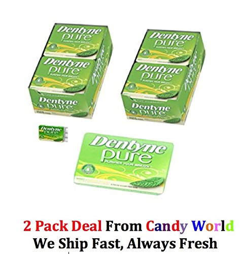 Dentyne Pure Mints with Melon Accents Sugar Free Chewing Gum - 10 Pack of 9 Pieces 2 Pack Deal 20 packs total -