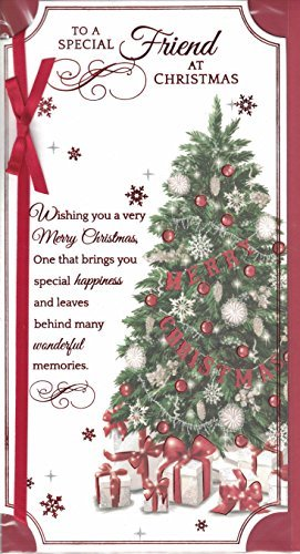 friend christmas card to a very special friend at christmastime red xmas tree px
