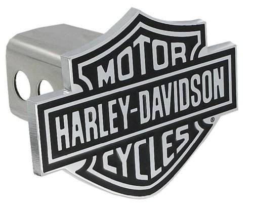 Harley-Davidson Bar & Shield Trailer Hitch Cover 2'' Stainless Steel HDHC14 (Harley Davidson Hitch Cover)
