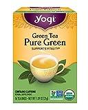 Yogi Tea, Pure Green Tea, 16 Count (Pack of 6), Packaging May Vary