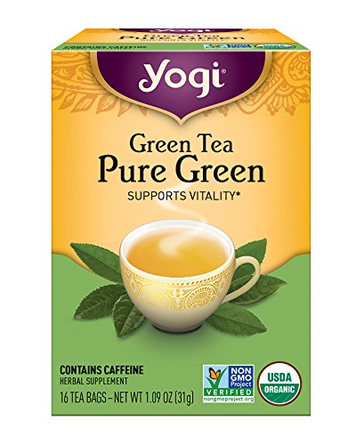 Yogi Tea, Pure Green Tea, 16 Count (Pack of 6), Packaging May Vary
