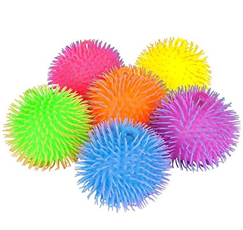 Rhode Island Novelty Puffer Ball - 8 inch, Two Tone (Colors May Vary)