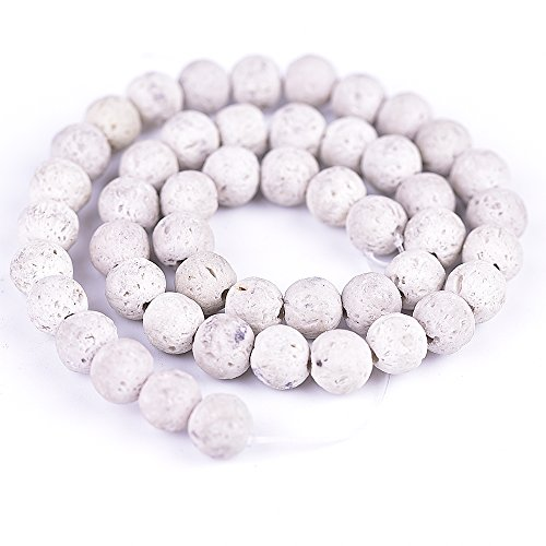 8mm Lava Rock Natural Stone Loose Beads for Jewelry Making Spacer Beads 15