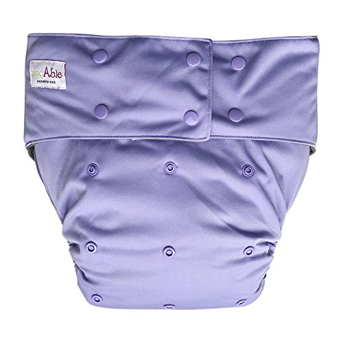 EcoAble Teen & Adult Incontinence Cloth Diaper with Charc...